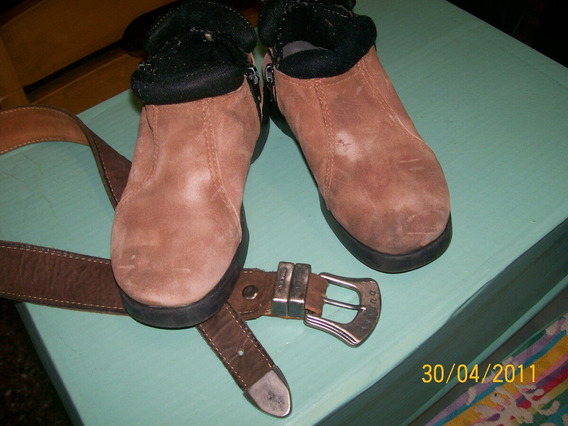 Zapato/botineta Con Cierres Número 30 Y Cinturon-lote