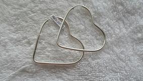 Brinco Feminino De Prata 925 Legítima Coração