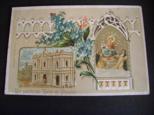 Tarjeta Postal Antigua Italiana 1921