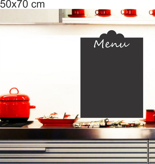 Adesivo Parede Cozinha Menu Recados Receitas Lousa Giz 50x70