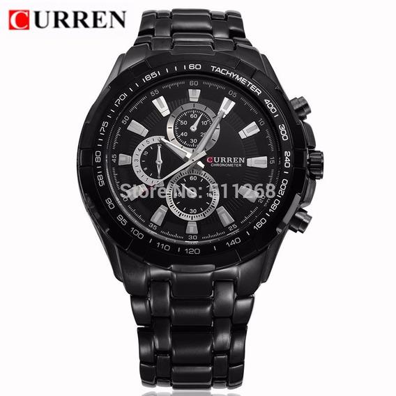 Relogio Masculino Quartzo Curren Sport Black/black Bd1508