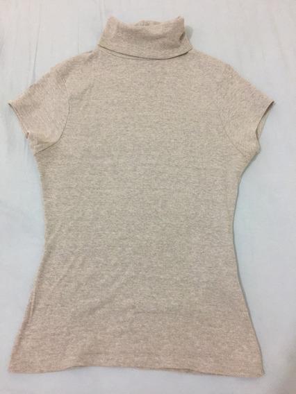 Blusa Camiseta Cinza Original Marca Zara Feminina Tamanho M