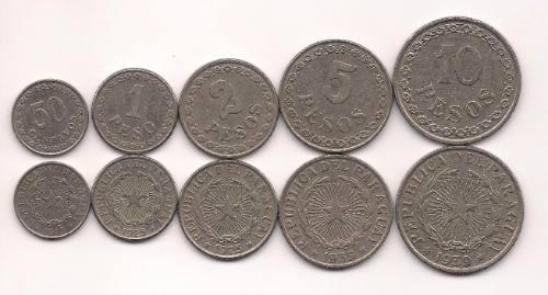 Serie De 5 Monedas De Paraguay Año 1925 A1939