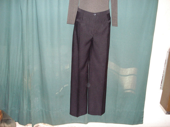 Pantalón Oxford Talle 48 Negro Y Marrón