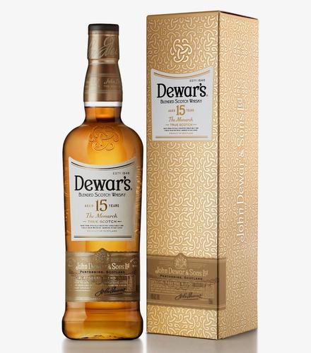 Imagen 1 de 6 de Whisky Dewars 15 Años Special Reserve 1000ml Estuche Metal