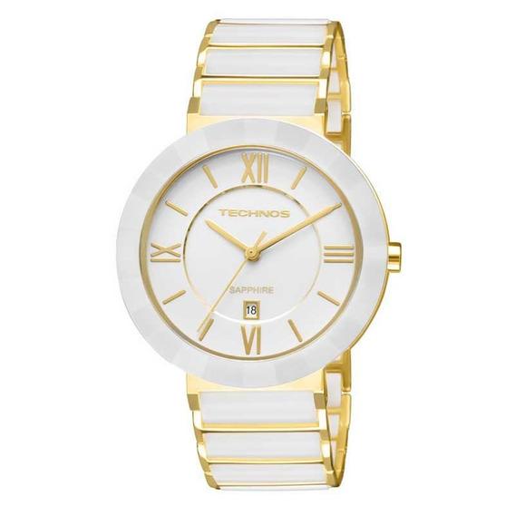 Relógio Technos Feminino Sapphire Branco Analógico 2015bv/4b