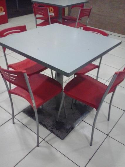 Mesa 4 Cadeiras Para Restaurante Lanche Residencia