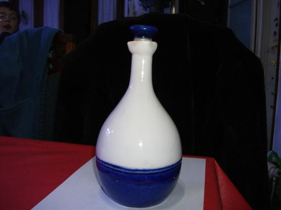 Antigua Botella De Losa Con Tapa Oltolini