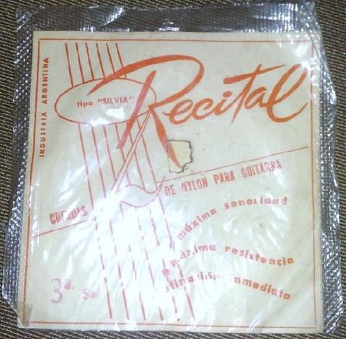 Cuerda De Guitarra Recital Ind. Argentina (3a. Si) Antigua