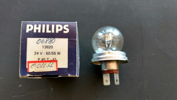 Lâmpada Farol 24 Volts Philips Base Igual H5