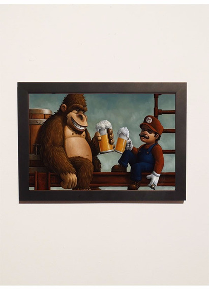 Poster Super Mario Bros Donkey Kong Super Nintendo Snes