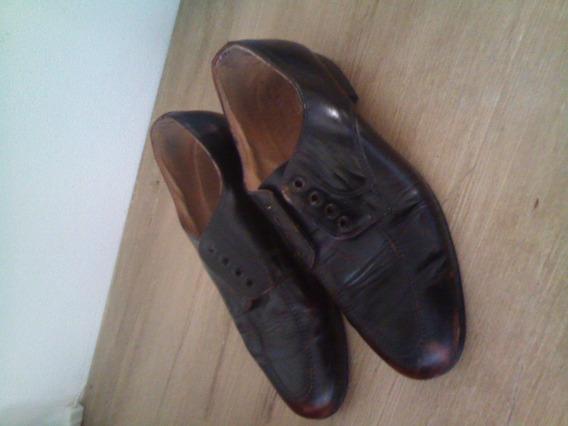 Zapatos De Cuero Suela De Goma