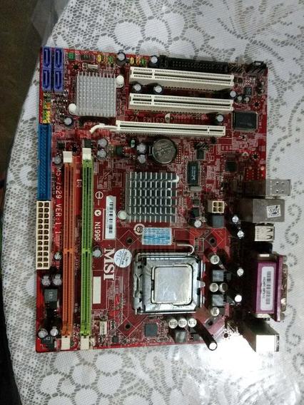 Placa Mãe Pc Msi Com Processador, Não Testada