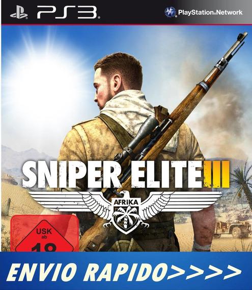 Sniper Elite 3 Ps3 Cod Psn - Legendado Português - Promoção!