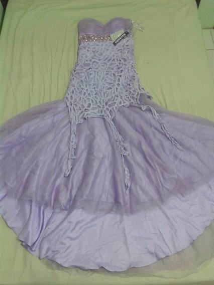 Vestido Longo Com Cauda Para Festa