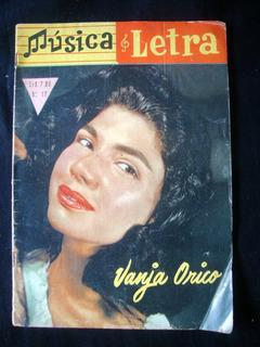 Revista Música E Letra 1958 Publicação Antiga