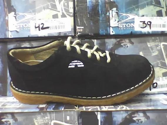 Zapatos De Cuero Gamuza Suela Crepe Local Microcentro