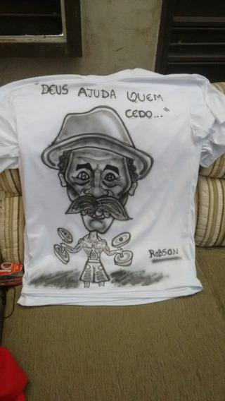 Caricaturas Em Camisetas Com Aerografia
