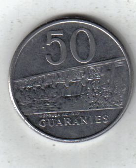 Paraguay Moneda De 50 Guaranies Año 1986 !!!!!!!!!!!!