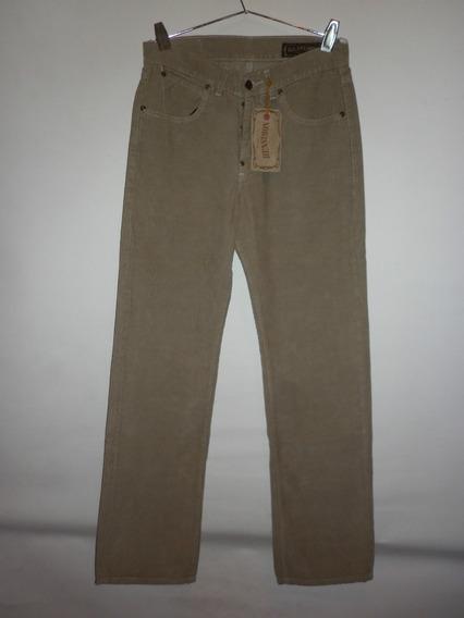 Pantalon Jean Bensimon De Corderoy Hebilla Trasera Talle 28