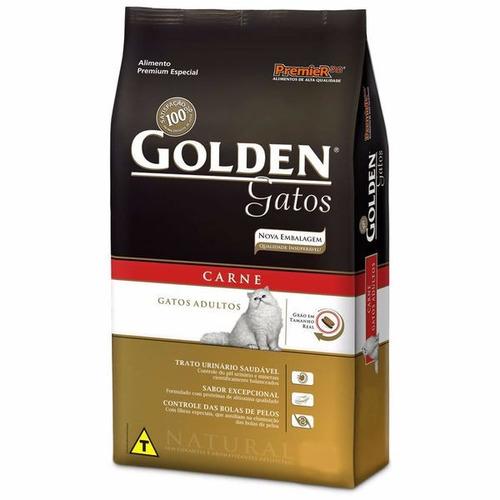 Imagem 1 de 1 de Ração Golden Gatos Adultos Carne 3kg - Pet Hobby
