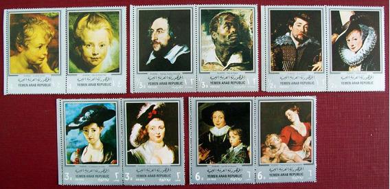 Yemen, Arte Serie 10 Sellos Pinturas Rubens Mint L6348