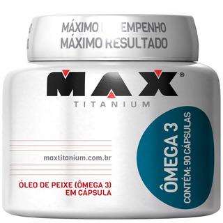 Omega 3 - 90 Cápsulas - Max Titanium