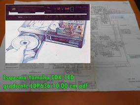 Esquema Yamaha Cdx-1cd Cdx1cd Gradiente Ldp636 Em Pdf