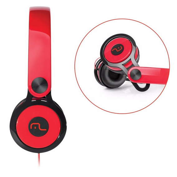 Headphone Multilaser Xtream 360 Vermelho P2 - Ph083