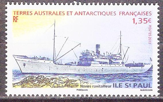 C@- Francia - Antartida - Barcos - Mint -