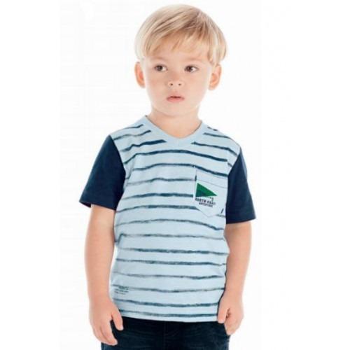 Camisa Manga Curta Azul Arte Menor