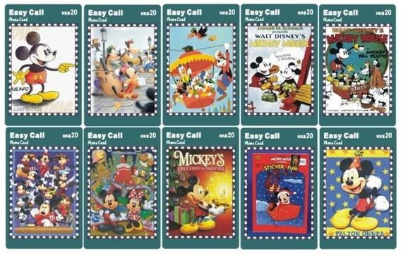 Disney Y Mickey Mouse - 10 Tarjetas Telefonicas Chinas - L01