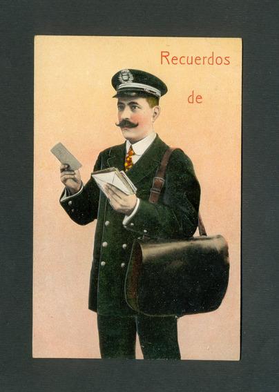 España - Antigua Postal - El Cartero -