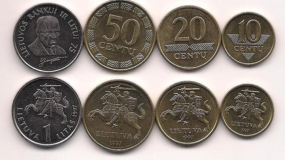 Serie De 4 Monedas De Lituania Año 1997 Sin Circular