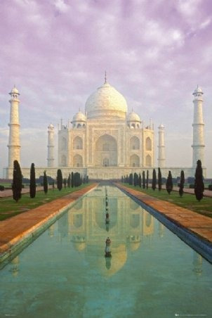 Simbolo Del Amor Eterno - Poster Del Taj Mahal De 90 X 60 Cm