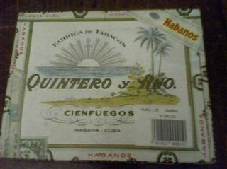 *** Lole ** Caja Vacia De Habanos Quinteros Cubanos ***
