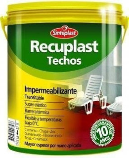 Recuplast Techos 20 Lt Elastomerico Membrana Liquida Gtia