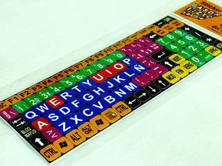 Stickers Teclado Pc Letras Grandes Color Con Envío Gratis