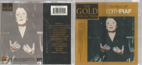 Cd Best Of Edith Piaf Gold Collection - Bonellihq Cx44 E19