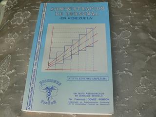 Libro Administración De Personal. Francisco Gomez Rondon