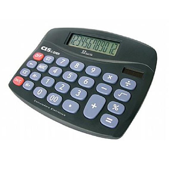 Calculadora De Mesa 12 Dígitos C-206n Cis Com Pilha