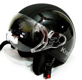 Capacete Kraft Semi Revestido Custom Harley Drag Intruder