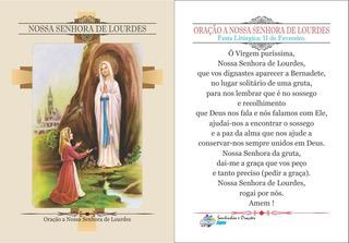 Nossa Senhora De Lourdes (500 Santinhos Oração) Frete Grátis