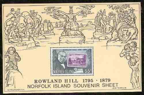Australia - Rowland Hill. Hojita Block Mint. Norfolk Island