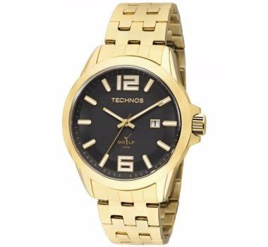 Relógio Unissex Technos Dourado 2115klv/4p Original