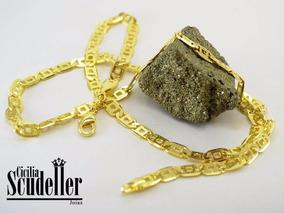 Corrente Masculina Diamantada Banhada Ouro 18 K