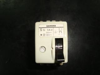 Llave Termica Siemens Antigua De 3 Amp .