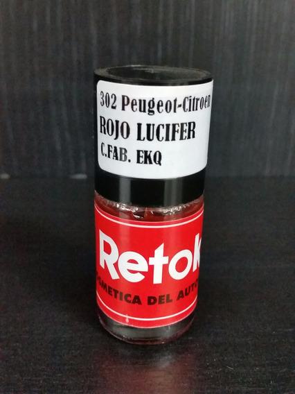 Retok Pintura Original Ekq Peugeot Rojo Lucifer Autoestetica