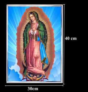 Imagem De Nossa Senhora De Guadalupe 30x40cm Mold /alumínio