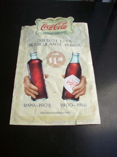 Poster Original De Coca-cola Colección Botellas Históricas